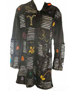 Womens Ladies Hooded Hippy Long Maxi Jacket - Lined Or Unlined N998