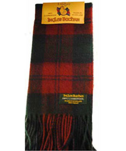 100% Lambswool Tartan Scarf By Ingles Buchan Made In Scotland * 6 Tartans * 141