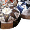 leather moroccan pouffe