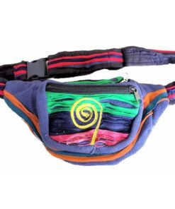 Fairtrade Bright Funky Blue Nepalese Bumbag