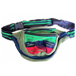 Fair Trade Bright Funky Green Nepalese Bumbag / Wallet / Purse / Waist Pack 492N
