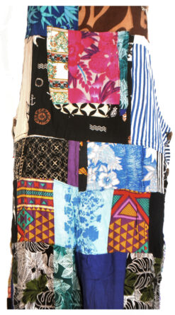 Batik Patchwork Dungarees