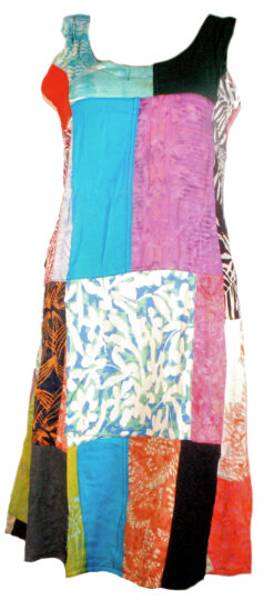 patchwork short dress