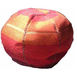 Fairtrade Moroccan Woven Sabra Silk Textile Bean Bag Beanbag Pouffe Cover 544 Or