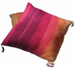 Fair Trade Moroccan Woven Contemporary Textile Cushion Cover Covers 545 Red