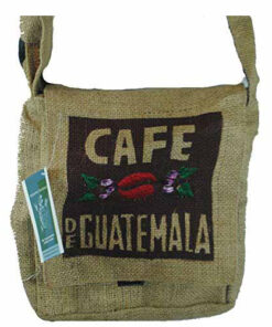 Fair Trade Guatemalan Hessian Jute Coffee Shoulder Bag M37S