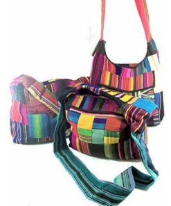 Bright Patchwork Guatemalan Mayan Tribal Shoulder Bag Hippy Satchel Travel M32