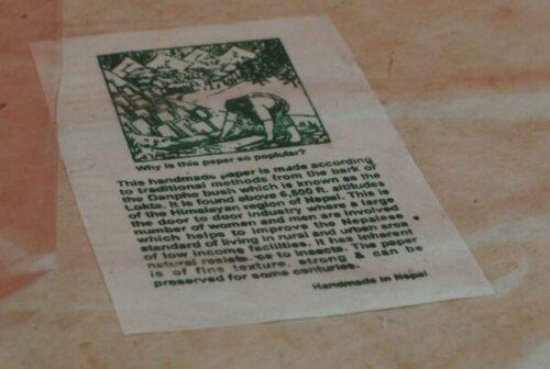 Fair Trade Handmade Recycled Lokta Paper A4 30Gsm 30 Sheets ...