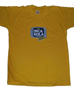 Inca Kola South American Popular Soft Drinks Brand Tshirt T-Shirt Peruvian Soda