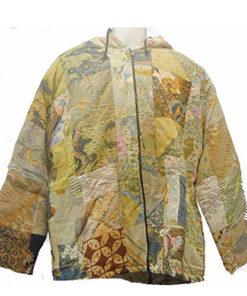 Fair Trade Indonesian Multicoloured Patchwork Hippy Batik Hooded Top Hoody 513