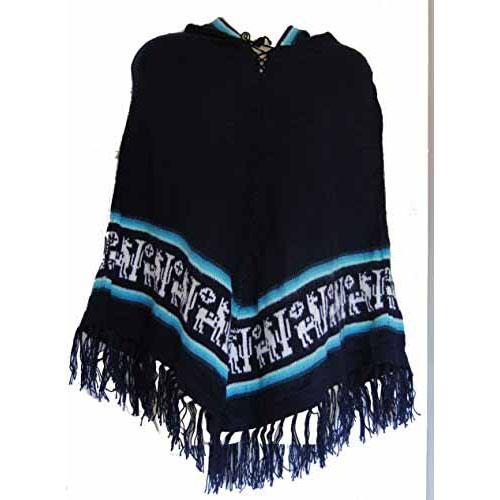 Fair Trade Genuine Soft Hooded Womens Ladies Alpaca Wool Poncho 2015 Festival