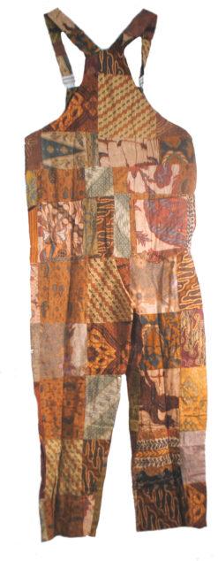 patchwork batik dungarees
