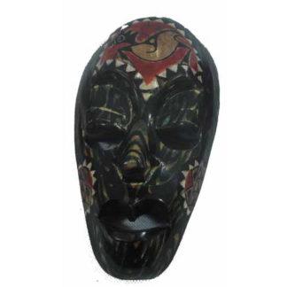 Fair Trade Indonesian Balinese Wooden Traditional Mask (20Cm) (Luk6)