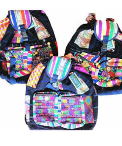 Unisex Hippy Patchwork Canvas Backpack Shoulder Travel Festival Bag Rucksack M44