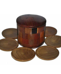 Set Of 6 Wooden Boxed Nicaragua Handmade Coasters Mats From Nicaragua