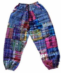 Guatemalan Patchwork Hippy Festival Multicoloured Unisex Men Women Med Trousers