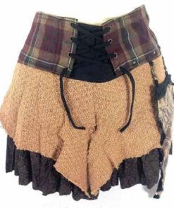 Genuine Scottish Tartan Designer Funky Kilt Steam Punk Psytrance Skirt N1 Earth
