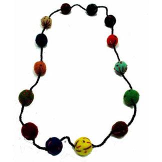 Fair Trade Nepalese Felt Ball Necklace Garland 2cm Balls 1m Long