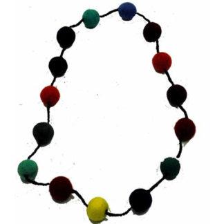 Fair Trade Nepalese Felt Ball Necklace Felt Ball Garland 2cm Balls 1m Long