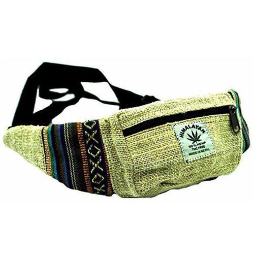 Terrapin Trading Mens Hemp Hip Waist Belt Bum Bag Bumbag Festival Travel Money Belt Wallet N110