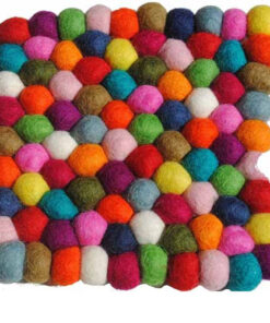 Wool Ball Felt Colourful Bright Contemporary Placemat Coaster Place Mat N2 20X20