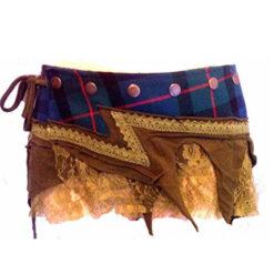Real Scottish Tartan Designer Funky Kilt Steam Punk Psytrance Belt Skirt N2 Gree