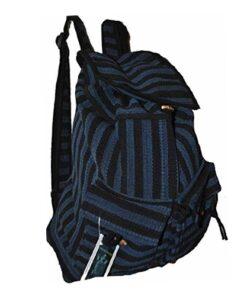Hippy Multicoloured Canvas Uttam Backpack Knapsack Travel Festival Bag Rucksack