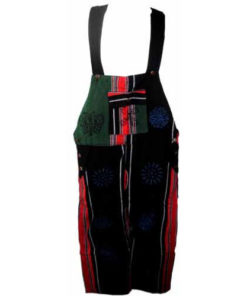 Fair Trade Patchwork Heavy Cotton Dungarees From Nepal By Terrapin (Rgb)