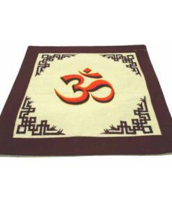 Ethical Embroiderd Tibetant Buddhist Symbol Cushion Cover Boudhanth Nepal Uttam