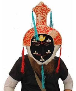 Authentic Tibetan Monk / Lama Cermonial Festival Hat Bought At Boudanath Temple