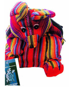 Fairtrade Hippy Multicoloured Guatemalan Animal Bag Purse Travel Backpack M33