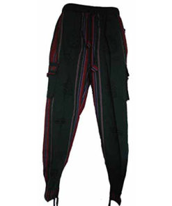 Fair Trade Nepal Thick Cotton Hippy Trousers With Real Patches N32