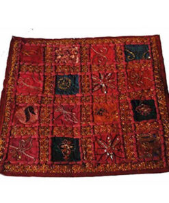 Ethical Floral Hippy Funky Rajesthani India Embroidered Cushion Cover Rj2 Burgun