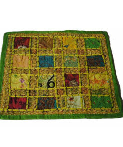Ethical Floral Hippy Funky Rajesthani India Embroidered Cushion Cover Rj2 Green