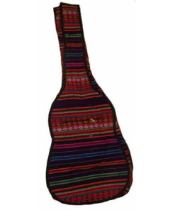 Fair Trade Hand Made Bolivian South America Aguayo Aymara Guitar Padded Case 146