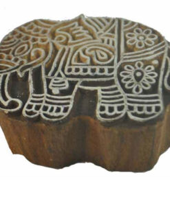 Genuine Vintage Rajathani India Block Press Block - Elephant (Raj4)