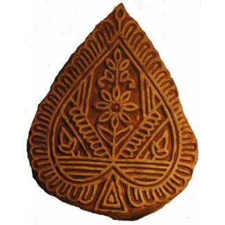 Genuine Vintage Rajathani India Block Press Block - Heart (Raj4)
