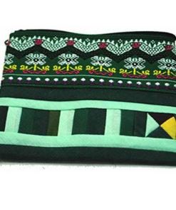 Fair Trade Thai Thailand Hmong Zip Purse Geometric Applique Choose Colour
