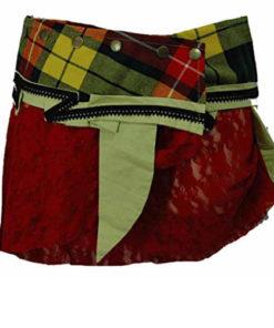 One Size Wrap Scottish Tartan Kilt Wraparound Skirt ( Goth Steampunk Psytrance T