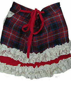 One Size Scottish Designer Tartan Kilt Wraparound Skirt ( Goth Steampunk Psytran