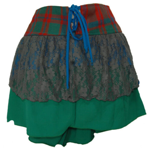 wraparound mini skirt