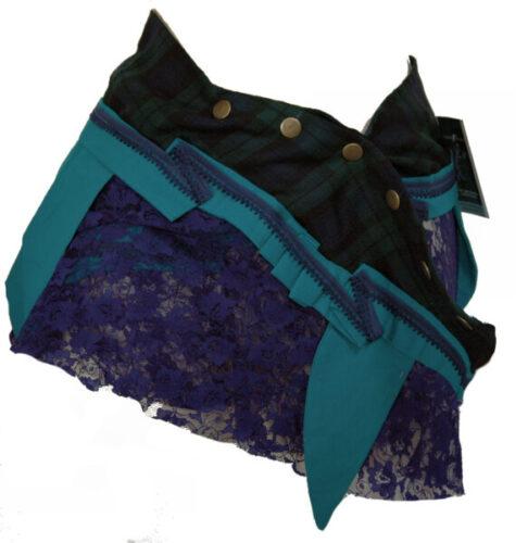 wraparound mini skirt