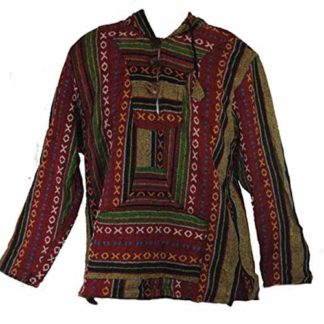 Fair Trade Mens Heavy Cotton Gheri Jumper / Hooded Top Nepal (Washim