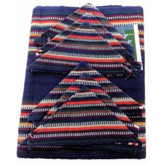 Textile Bright Mayan Guatemalan Tribal Woven Table Placemeat & Coaster Set M51