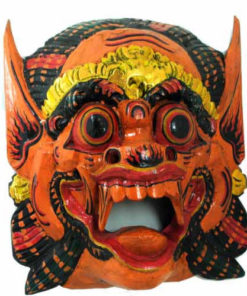 Fair Trade Indonesian Balinese Wooden Hand-Painted Barong Mask
