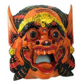 Fair Trade Indonesian Balinese Wooden Hand-Painted Barong Mask