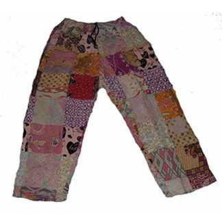Fair Trade Indonesian Batik Patchwork Hippy Festival Travel Comfy Trousers Pants