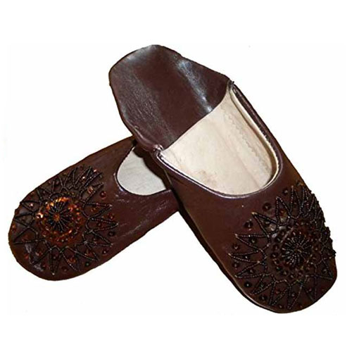 Fair Trade Ladies Moroccan Babouche Slippers Available In 12 Colours & 10 Sizes