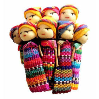 12 Large Fairtrade Guatemalan Worry Dolls 5cm Mayan Tribal Shaman Witch M70