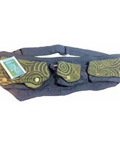 Mens Cotton Hip Waist Belt Bum Bag Bumbag Travel Money Belt Wallet N99 Black